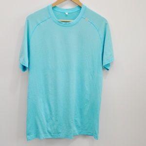 Lululemon Bali Breeze Blue Metal Vent Tech Shirt